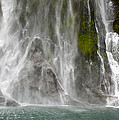 Close Up Of One Of The Many Waterfalls by Brooke Whatnall