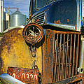 Close Up Of Rusty Truck by Jill Battaglia