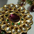 Close Up Of The Gold And Diamond Setting Of A Large Necklace by Ashish Agarwal