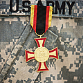 Close-up View Of A German Gold Cross by Terry Moore