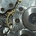 Close-up View Of Complex Clockwork by Calysta Images