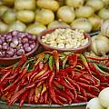 Close View Of Chili Peppers And Other by Steve Raymer