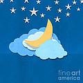 Cloud Moon And Stars Design by Setsiri Silapasuwanchai