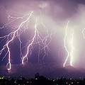 Cloud To Ground Lightning by John A Ey III and Photo Researchers