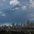 Cloudy Panorama Edmonton by David Kleinsasser