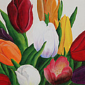 Cluster Of Tulips by Robert Thomaston