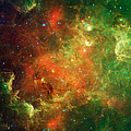 Clusters Of Young Stars In The North by Stocktrek Images