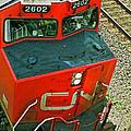 Cn Train Cab by Randy Harris