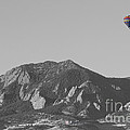 Co Rocky Mountain Front Range Hot Air Balloon View Bw by James BO  Insogna