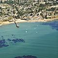 Coastal Community And Sailboats by Eddy Joaquim