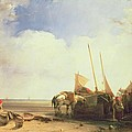 Coastal Scene In Picardy by Richard Parkes Bonington