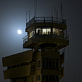 Cob Speicher Control Tower Under A Full by Terry Moore
