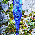 Cobalt Blue Bottle Triptych 1 Of 3 by Andee Design