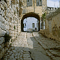 Cobbled Street In Safed by Daniel Blatt