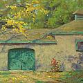 Cobblestone Barn by Marianne Kuhn