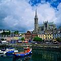 Cobh Cathedral & Harbour, Co Cork by The Irish Image Collection