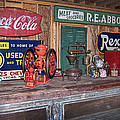 Coca Cola - Rexall - Ok Used Tires Signs And Other Antiques by Kathy Clark