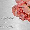 Cocktail Party Invitation - Fabric Rose by Mother Nature