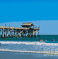 Cocoa Beach Pier Florida by Allan  Hughes