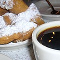 Coffee And Beignets French Quarter New Orleans by Nancy Mitchell