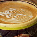 Coffee Art Leaf by Kim Fearheiley