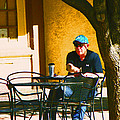 Coffee At The Outdoor Cafe by Lenore Senior