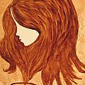 Coffee Break Coffee Painting by Georgeta  Blanaru