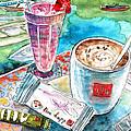 Coffee Break In Agios Nikolaos In Crete by Miki De Goodaboom