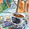 Coffee Break In Elos In Crete by Miki De Goodaboom