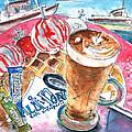 Coffee Break In Elounda In Crete by Miki De Goodaboom
