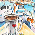 Coffee Break In Heraklion In Crete by Miki De Goodaboom