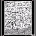 Collecting Seashells By The Seashore by Barbara Griffin