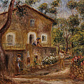 Collette's House At Cagne by Pierre Auguste Renoir