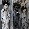 Cologne Cathedral Statues by Bob Christopher