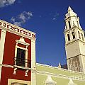 Colonial Colors Campeche Mexico by John  Mitchell