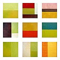 Color Study Abstract Collage by Michelle Calkins