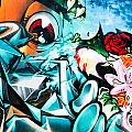 Colorful Abstract Graffiti Wall by Yurix Sardinelly