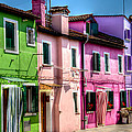 Colorful Burano Italy by Jon Berghoff