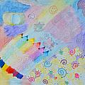 Colorful Doodling Original Art by Debbie Portwood