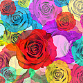 Colorful Floral Design  by Setsiri Silapasuwanchai