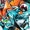 Colorful Graffiti Fragment by Yurix Sardinelly
