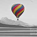 Colorful Hot Air Balloon And Longs Peak by James BO Insogna