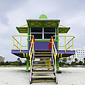 Colorful Lifeguard Station by Jeremy Woodhouse