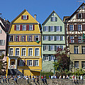 Colorful Old Houses In Tuebingen Germany by Matthias Hauser