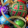 Colorful Ornaments With Ribbon by Garry Gay