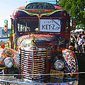 Colorful Painted Hippie Bus by Kym Backland