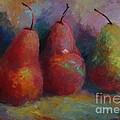 Colorful Pears by Sandra Leinonen Dunn
