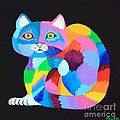 Colorful Rainbow Cat by Nick Gustafson