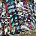Colorful Snow Skis by Susan Leggett