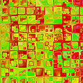 Colorful Squares II by Debbie Portwood